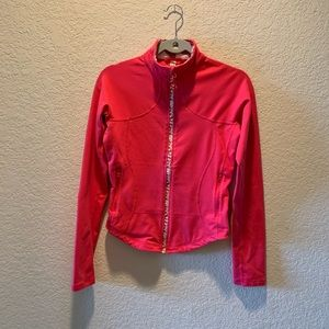 Lululemon coral with prints jacket, size 8
